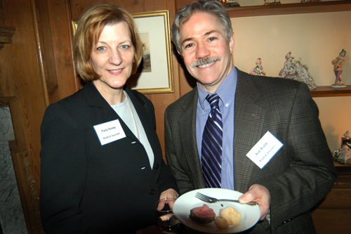 Paula Stamp and Rob Walsh of Walsh & Associates. / PBN Photo/Frank Mullin