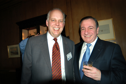 PBN Publisher Roger Bergenheim(l) and Providence City Councilman Michael Solomon. / PBN Photo/Frank Mullin