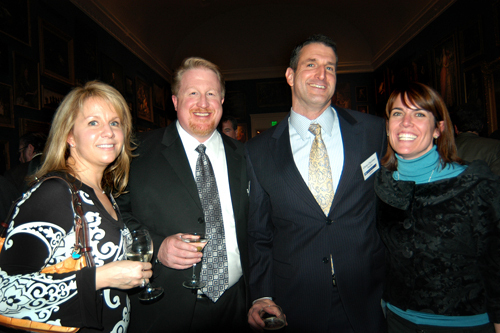 Kim O'Keefe(l), Cox Business, Ross Nelson, Cox Business, Glenn Chavious, USI of New England, and Amy Quinn, Cox Communications. / PBN Photo/Frank Mullin