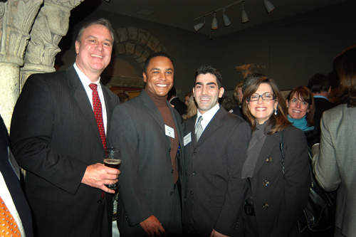 Jacob Belt(l), Sandler Sales Institute, Harvey Lee, Cox Business, Michael Crawley & Renee Aloisio, LGC&D. / PBN Photo/Frank Mullin