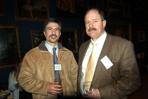 George Paskalis(l), MG Commercial Real Estate, and Kevin Fortin, Gentry Relocation. / PBN Photo/Frank Mullin