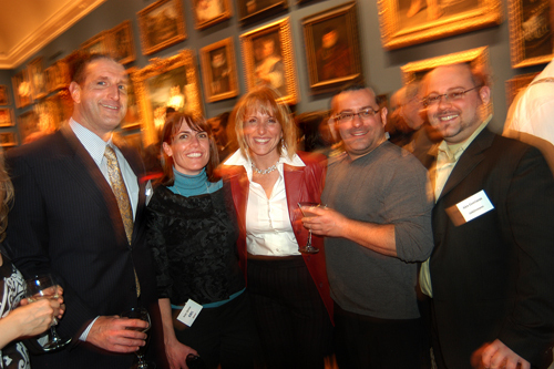 Glenn Chavious(l), USI of New England, Amy Quinn, Leslie Zarrella, and Gregg Brazil, Cox Business, and Alex Gorriaran, (add)ventures. / PBN Photo/Frank Mullin