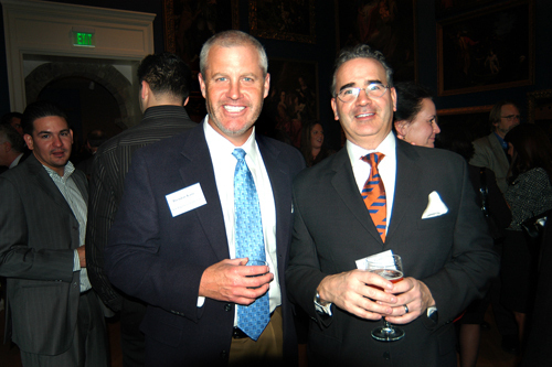Brendan Kane(l), New England Construction, and Dean Voyer, Avaya. / PBN Photo/Frank Mullin