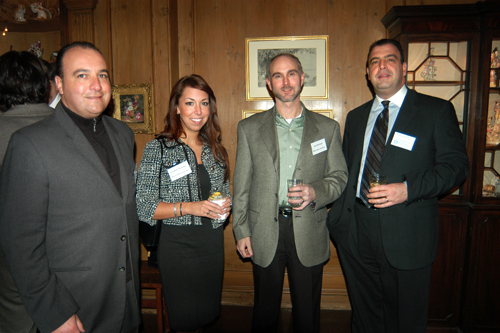 John Igliozzi, RI Department of Transportation, Lindsey Viveiros and Jim McAssey, Brave River Solutions, and Chris Santilli, PBN Advertising Director. / PBN Photo/Frank Mullin