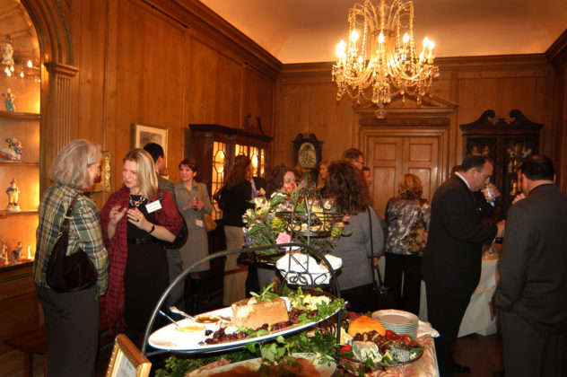 Guests enjoy the many culinary offerings in the Porcelain Gallery. / PBN Photo/Frank Mullin