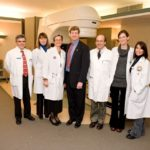 CONGRESSMAN Patrick J. Kennedy, center, with part of the NorthMain Radiation Oncology team, from left, Frank Ascoli, Mary Ellen Thibodeau, Dr. Gabriela Masko, Dr. Scott A. Triedman, Theresa Strittmatter and Holly Haczynski. /