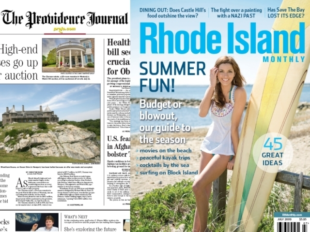 RHODE ISLAND MONTHLY IS BEING purchased from The Providence Journal Co. and its parent company, A. H. Belo Corp., by its president and publisher for an undisclosed sum. /