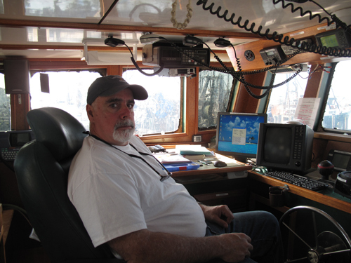 CAPTAIN OF INDUSTRY: Joel Hovanesian, 52, owner and captain of the Excalibur, says that the fishing industry is getting forced into sectors, though most fishermen are opposed. /
