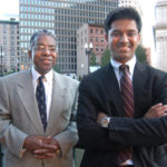 CUTTING OUT THE FAT: Shape Up Rhode Island Senior Consultant Ray Rickman, left, and founder and Chairman Rajiv Kumar. /