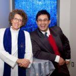 WOMEN & INFANTS chaplains the Revs. Caroline Patterson and Wilson Villamar in the hospital's new chapel. /