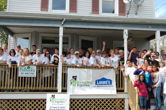 THE NEWPORT COUNTY Board of Realtors helped renovate the home of a needy Newport resident last Saturday.  /