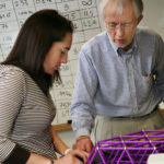 QUANTUM LEAP: Rodney Clifton, interim dean of engineering at Brown University, works with former civil engineering student Emily Kunen on a semester project. /