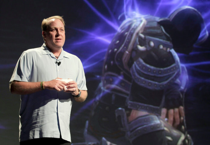 CURT SCHILLING unveils the first video game produced by his company, 38 Studios LLC, at Comic-Con last week in San Diego. /