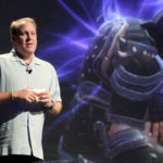 FULL COUNT: Former Red Sox pitcher and 38 Studios founder Curt Schilling unveils a video game during a California showcase last month. /