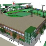 MINI FENWAY, the replica of the Boston stadium for youth baseball, has discarded the North Attleboro site for construction.  /