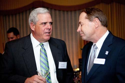 Karl Sherry, Hayes & Sherry with URI President David Dooley. / Rupert Whitely