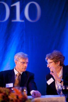 Richard DeRienzo, LGC&D, and Merrill Sherman, President & CEO, Bank Rhode Island