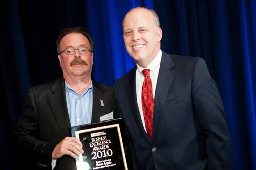 Honoree Peter Arpin,  President of Arpin International, with Roger Bergenheim
