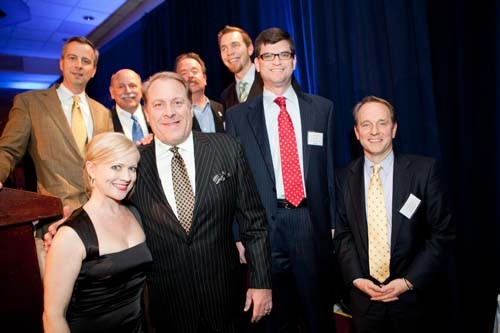 Curt Schilling poses with the 2010 BEA honorees.