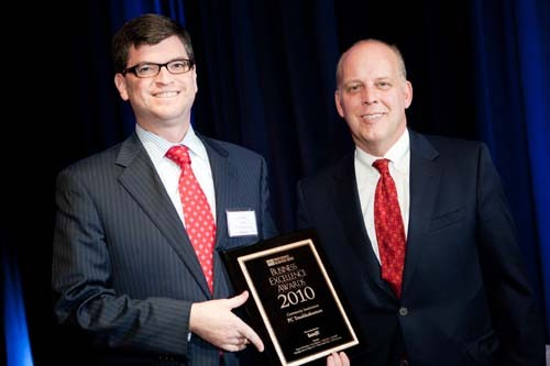 Honoree Eric Shorr, President & Founder of PC Troubleshooters Inc., and PBN Publisher, Roger Bergenheim