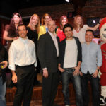 THEY'VE GOT TALENT: OceanState Financial Services staff, with a little help from the Boston Blazers mascot, held a sing-off to raise money for a number of children's charities.PHOTO COURTESY OCEANSTATE FINANCIAL SERVICES /