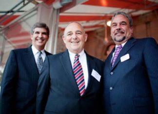 David Gilden, Partridge Snow & Hahn, Bob Padula (center) and Rick Padula, Gencorp Insurance  / Rupert Whitely