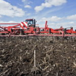 A PLOUGH prepares farmland for the planting of wheat. U.S. farmland values rose to a record as crop and livestock prices surged and demand for exports jumped. /