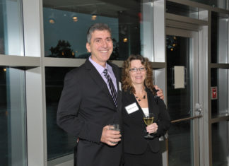 Honoree Steven Eaves of Eaves Devices with wife Holly. Eaves Devices was presented with the Innovation of the Year Award for Energy & the Environment  / Mike Skorski