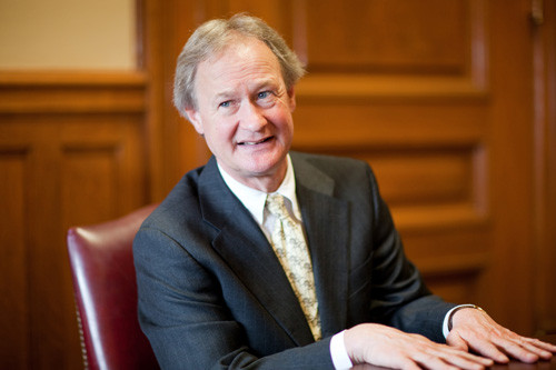 GATHERING FEEDBACK: Gov. Lincoln D. Chafee has started holding meetings with local leaders, the business community and public-employee unions on a municipal-pension bill. / PBN FILE PHOTO/RUPERT WHITELEY