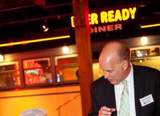 Bill Parsons, Economic Development Corp. with Roger Bergenheim, PBN Publisher / Rupert Whitely