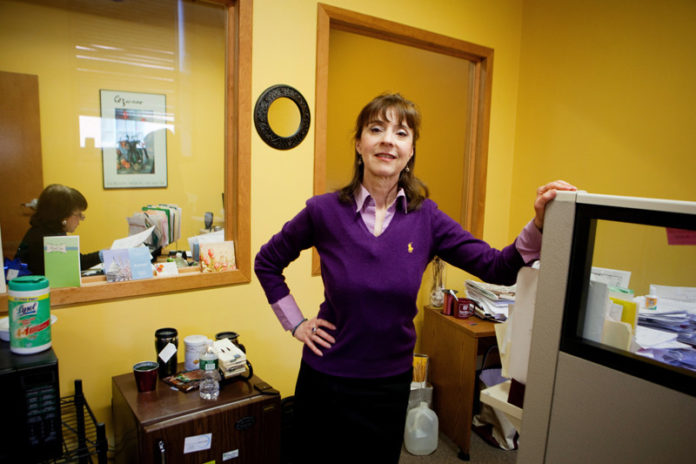 POSITION FILLED: Kerry M. Tracey sees her business as a barometer for the local economy. Hiring, on both a permanent and temporary basis, is up. / PBN PHOTO/RUPERT WHITELEY