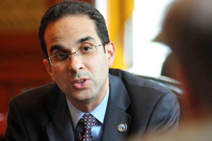 PROVIDENCE MAYOR Angel Taveras called for unity in moving forward to help the city recover from its economic crisis in presenting the fiscal year 2013 budget Monday evening. / PBN FILE PHOTO/FRANK MULLIN