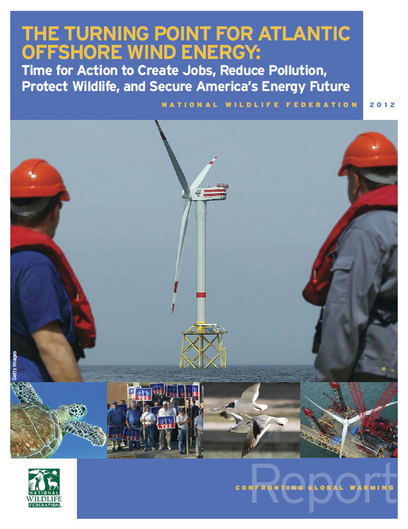 RHODE ISLAND is poised to be one of the first states with offshore wind farms, according to a new report authored by the National Wildlife Federation. / COURTESY THE NATIONAL WILDLIFE FEDERATION