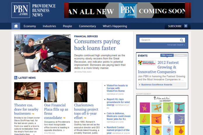 TO CELEBRATE THE NEW RE-DESIGN of our website, Providence Business News is removing our pay wall for the next 30 days, offering all PBN.com readers access to subscriber-only content.