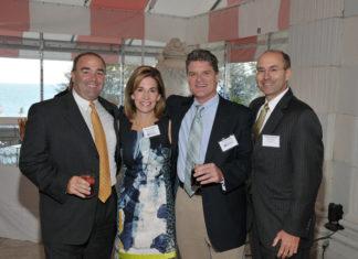 (l-r) Chris Plympton, Gencorp Insurance; Nancy Adeszko, Jim Hanrahan, PBN; Paul Lanquirand, CBIZ Tofias / Skorski Photography