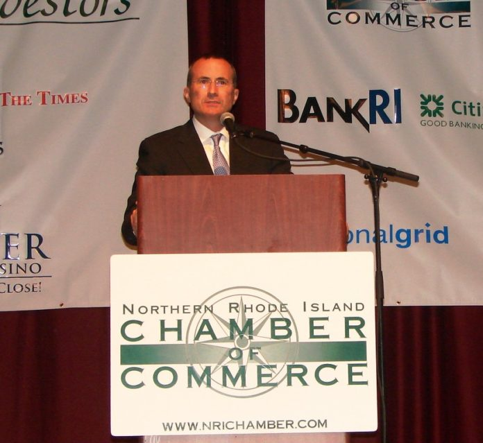 U.S. CHAMBER OF COMMERCE Executive Vice President and Chief Operating Officer David C. Chavern spoke about the strength and opportunities that the U.S. manufacturing sector presents. / COURTESY NORTHERN RHODE ISLAND CHAMBER OF COMMERCE