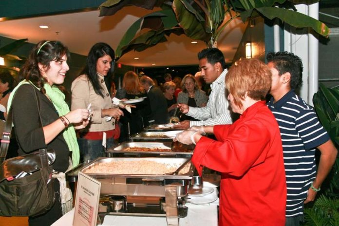 COURTESY FEDERAL HILL HOUSE TABLE SCRAPS: A scene from last year's Taste of the Hill event, which used to raise close to $50,000 but last year netted Federal Hill House just $12,000.