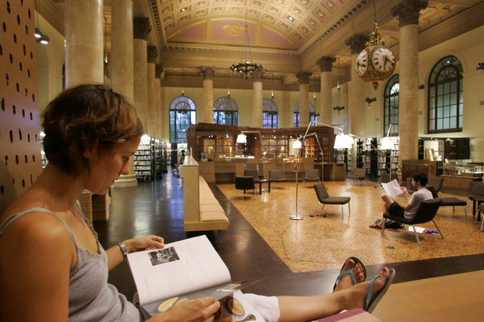 RHODE ISLAND SCHOOL OF DESIGN'S Fleet Library, which moved into the first two floors of the former Rhode Island Hospital Trust bank in 2006, earned recognition from BestColleges.com, which compiled its most