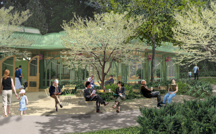 THE PROPOSED WELCOME CENTER on the grounds of The Breakers in Newport received preliminary approval on Wednesday from the R.I. Historic Preservation and Heritage Commission. / COURTESY PRESERVATION SOCIETY OF NEWPORT COUNTY AND EPSTEIN JOSLIN ARCHITECTS