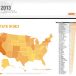 ON CLEAN EDGE INC.'s 2013 U.S. Clean Tech Leadership Index, the Ocean State ranked No. 17 overall, with high scores in the policy and capital categories. Massachusetts ranked second overall. / COURTESY CLEAN TECH INC.