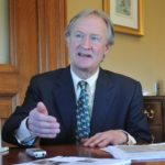 GOV. LINCOLN D. CHAFEE was one of several governors nationwide to call for more state oversight of local finances in the wake of bankruptcies in Detroit and Central Falls. / PBN FILE PHOTO FRANK MULLIN