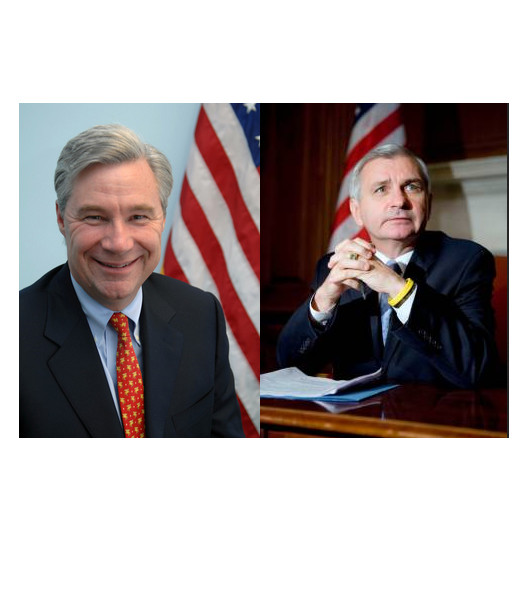 RHODE ISLAND'S U.S. Sens. Sheldon Whitehouse, left, and Jack Reed are slated to headline a public discussion Wednesday on the effects of sequestration on the Ocean State, scheduled for 10 a.m. at the Providence offices of Rhode Island Housing.