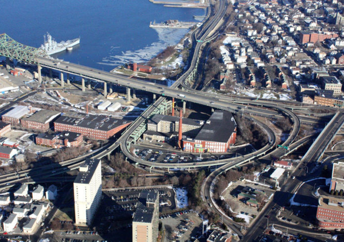 STATE OFFICIALS broke ground Friday on the $179 million project to replace Fall River's 'spaghetti ramps' as well as increase access to the water and improve the aesthetics of the western entrance into the city from the Braga Bridge. / COURTESY MASS. DEPARTMENT OF TRANSPORTATION