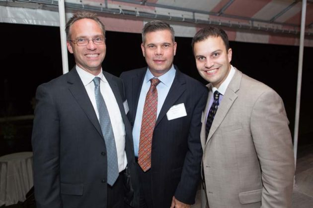 Joseph Lezon and David Medeiros of Alex and Ani Providence, with Michael Moto, Seven Swords Media  / Rupert Whiteley