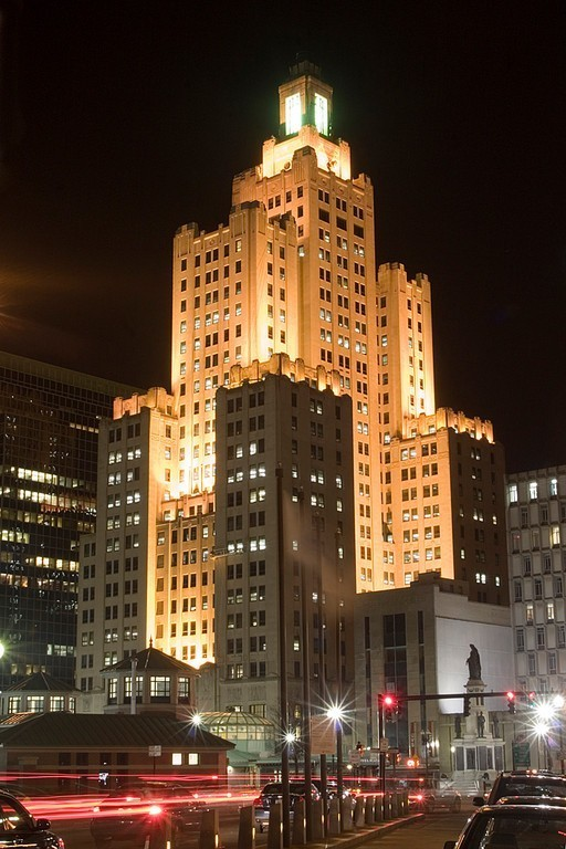 HIGH ROCK WESTMINSTER STREET LLC, owner of the iconic 'Superman Building' in Providence, filed a lawsuit against former tenant Bank of America in July claiming that the bank violated the terms of the lease when it left the tower in poor condition after vacating the property. / PBN FILE PHOTO