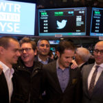 "FROM LEFT: Jack Dorsey, co-founder of Twitter Inc. and founder and CEO of Square; Christopher Isaac ""Biz"" Stone, co-founder of Twitter; Evan Williams, co-founder of Twitter; and Richard ""Dick"" Costolo, CEO of Twitter pose for a photograph after Twitter Inc.'s initial public offering on the floor of the New York Stock Exchange on Thursday. Twitter Inc. surged 85 percent in its trading debut, as investors paid a premium for its promises of fast growth. / BLOOMBERG FILE PHOTO/SCOTT EELLS"