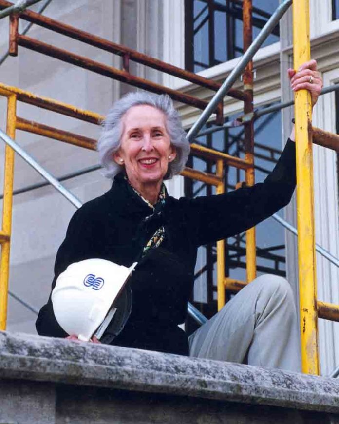 NOREEN STONOR DREXEL championed preservation of Salve Regina University's historic buildings until her death in 2012. On Friday, the university announced that it will endow its first named academic program -- the Noreen Stonor Drexel Cultural and Historic Preservation Program -- using a $1 million gift from the Alletta Morris McBean Charitable Trust. / COURTESY SALVE REGINA UNIVERSITY