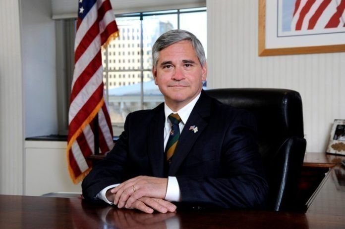 ATTORNEY GENERAL Peter F. Kilmartin has filed an amicus brief supporting a Massachusetts lawsuit against the National Oceanic and Atmospheric Administration, claiming the agency failed to mitigate the economic impact of a regulation reducing ground-fishing allotments on the local fishing industry. / COURTESY R.I. ATTORNEY GENERAL'S OFFICE