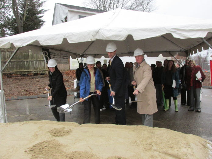A groundbreaking ceremony attended by Gov. Lincoln D. Chafee and others was held last week in South Kingstown, as Thundermist Health Center made a preliminary start on the ambitious construction project to create its new Wakefield facility in 2014.