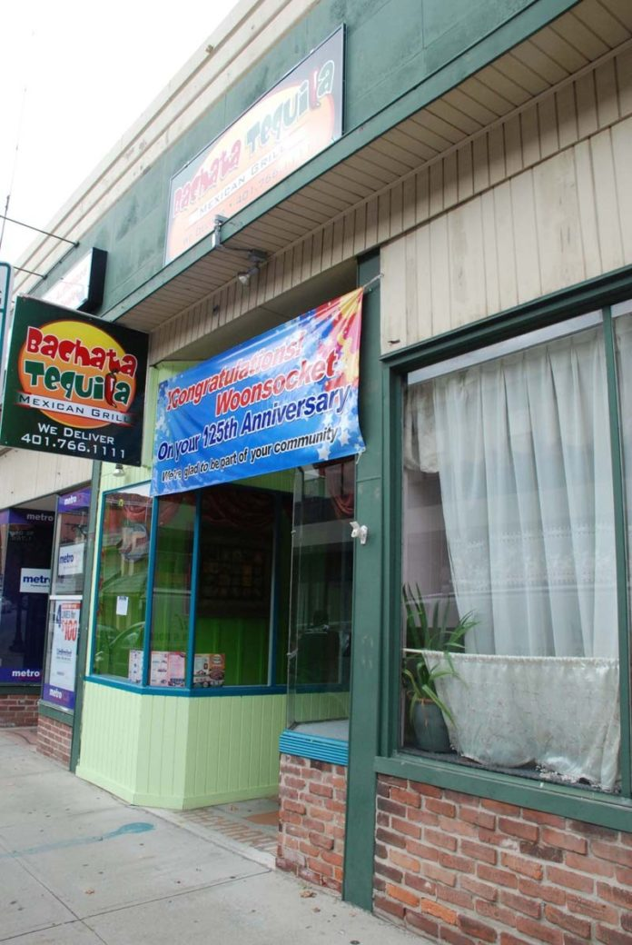 SPICING THINGS UP: Bachata Tequila restaurant opened this year, filling an empty storefront on the central section of Main Street city leaders are focusing on. / COURTESY NEIGHBORWORKS BLACKSTONE VALLEY